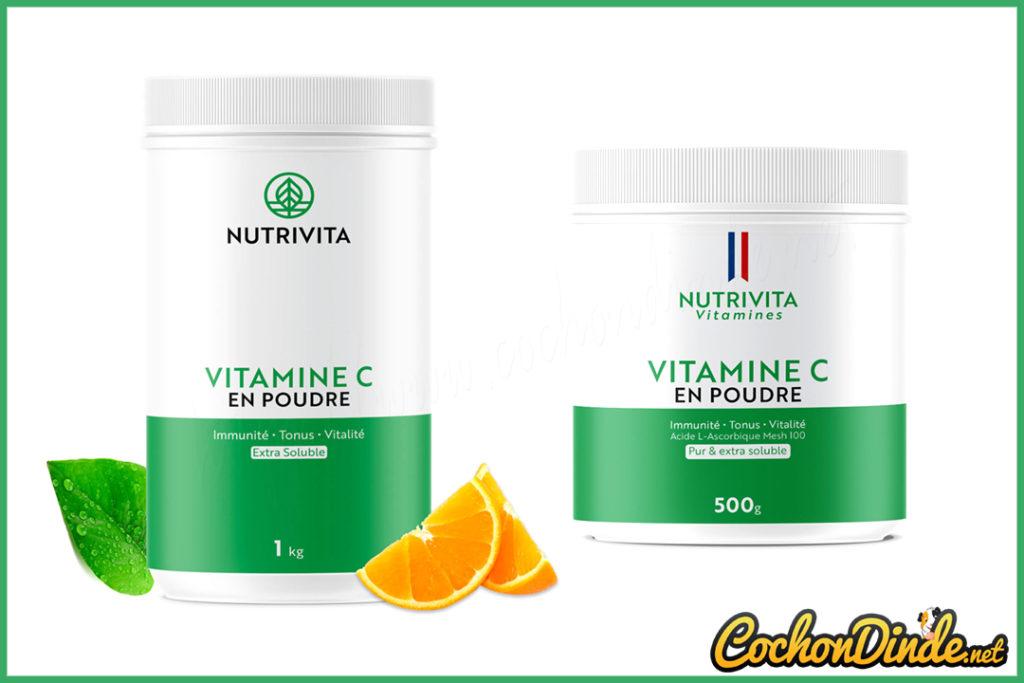 Vitamine c en poudre Nutrivita.